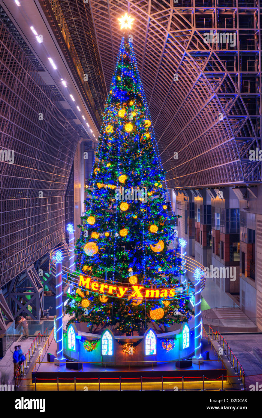 christmas tree at kyoto station november 21 2012 in kyoto japan stock - Japanese Christmas Tree Decorations
