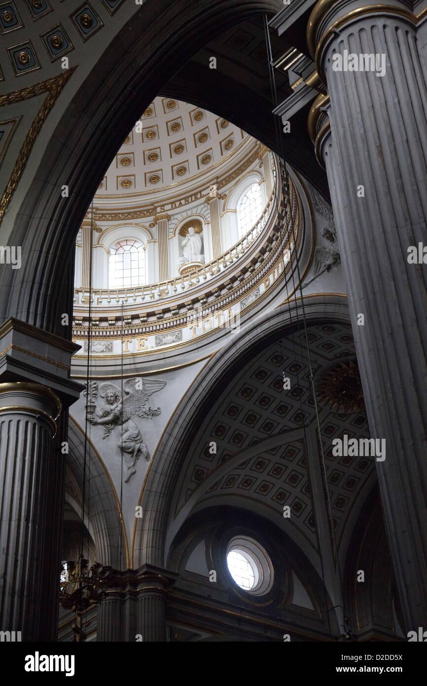 Puebla Catedral Dome in Puebla - Mexico - Stock Image