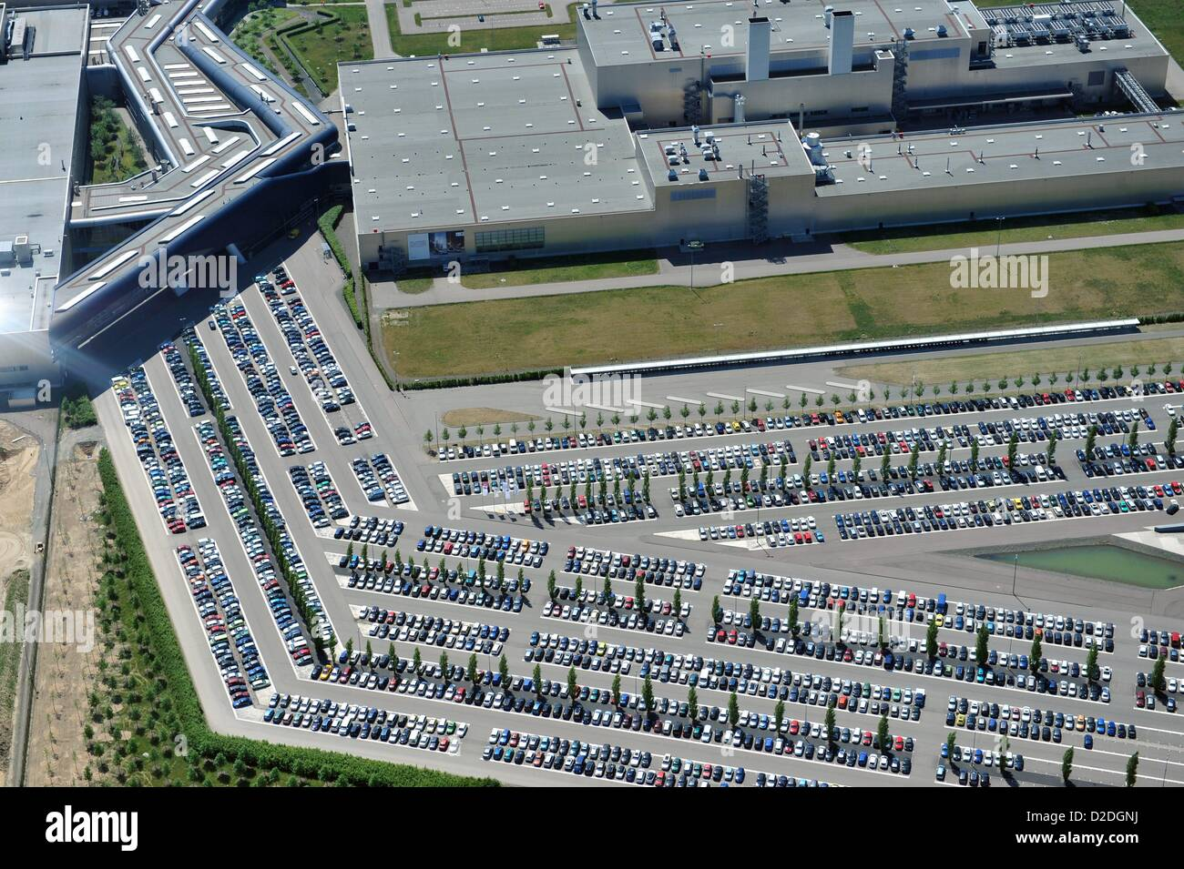 View On The Extension Works Of The Bmw Plant In Leipzig For The Stock Photo Alamy