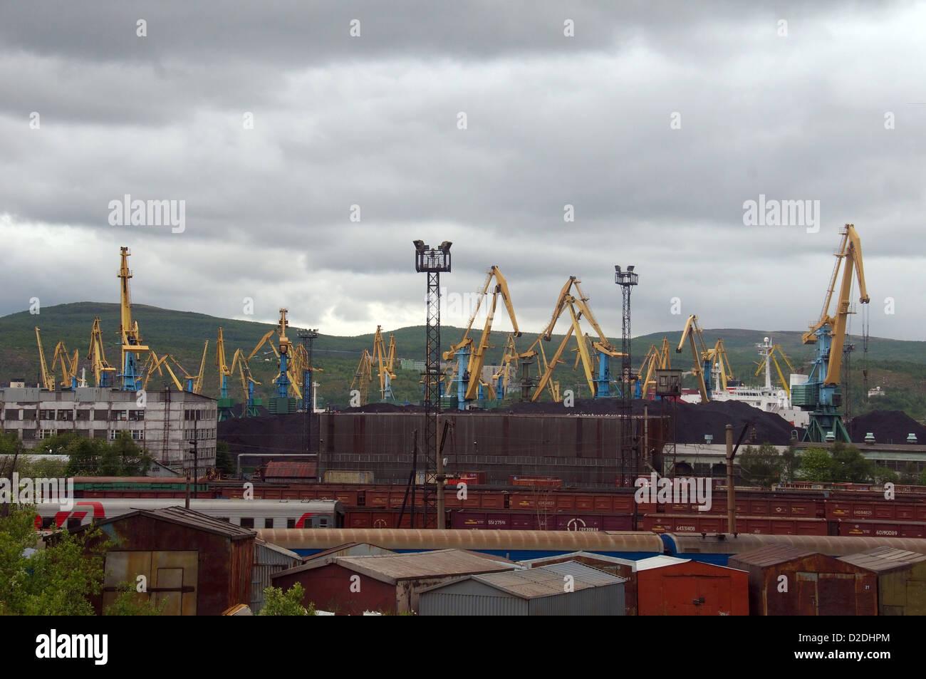 Murmansk, Kola, Arctic, Russian Federation - Stock Image