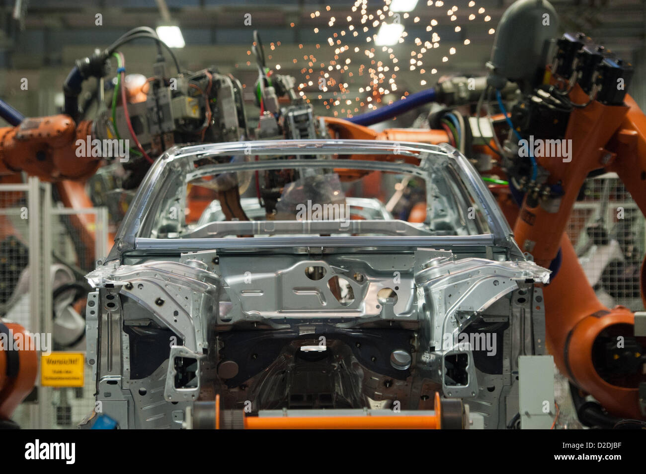 Robots Are Working On A Body Framework On Wednesday, 29 February 2012, At  The Audi Factory In Ingolstadt. Audi Gives A Balance Sheet Press Conference  In ...