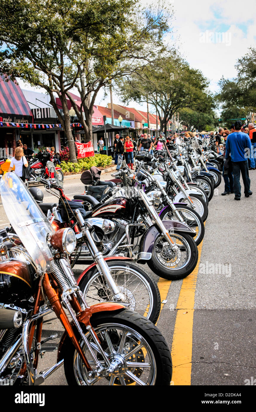 9a2d47354e5a Thunder in the Bay motorcycle event in Sarasota Florida - Stock Image