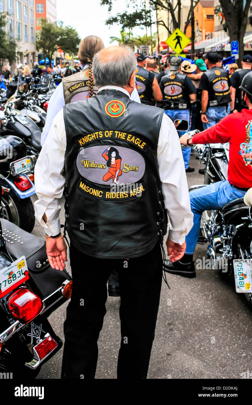 Thunder in the Bay motorcycle event in Sarasota Florida - Stock Image