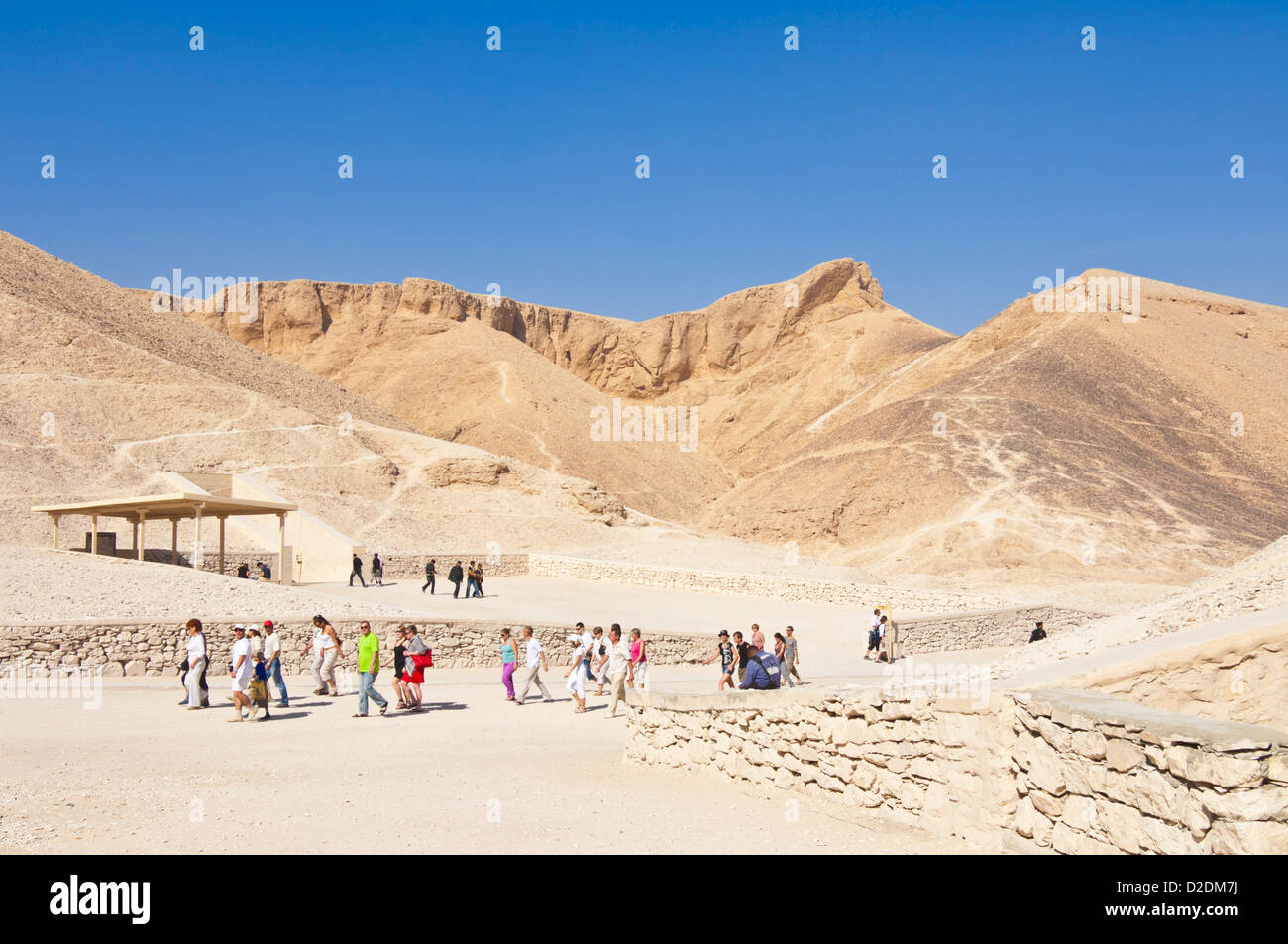 Entrance to the tomb of the pharaoh Rameses IV Valley of the Kings West bank of the river Nile near Luxor Egypt - Stock Image