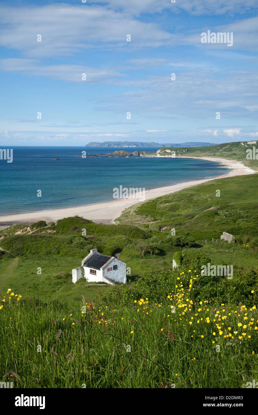 View across Whitepark Bay, Causeway Coast, County Antrim, Northern Ireland. - Stock Image