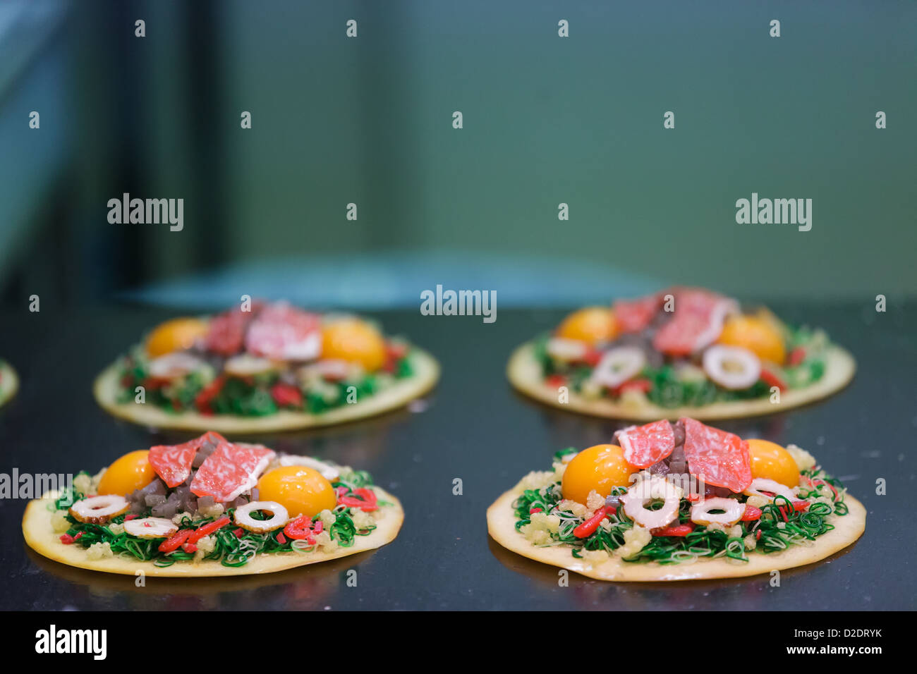 Japanese pie specialty in Kytoto retsaurant, Japan - Stock Image