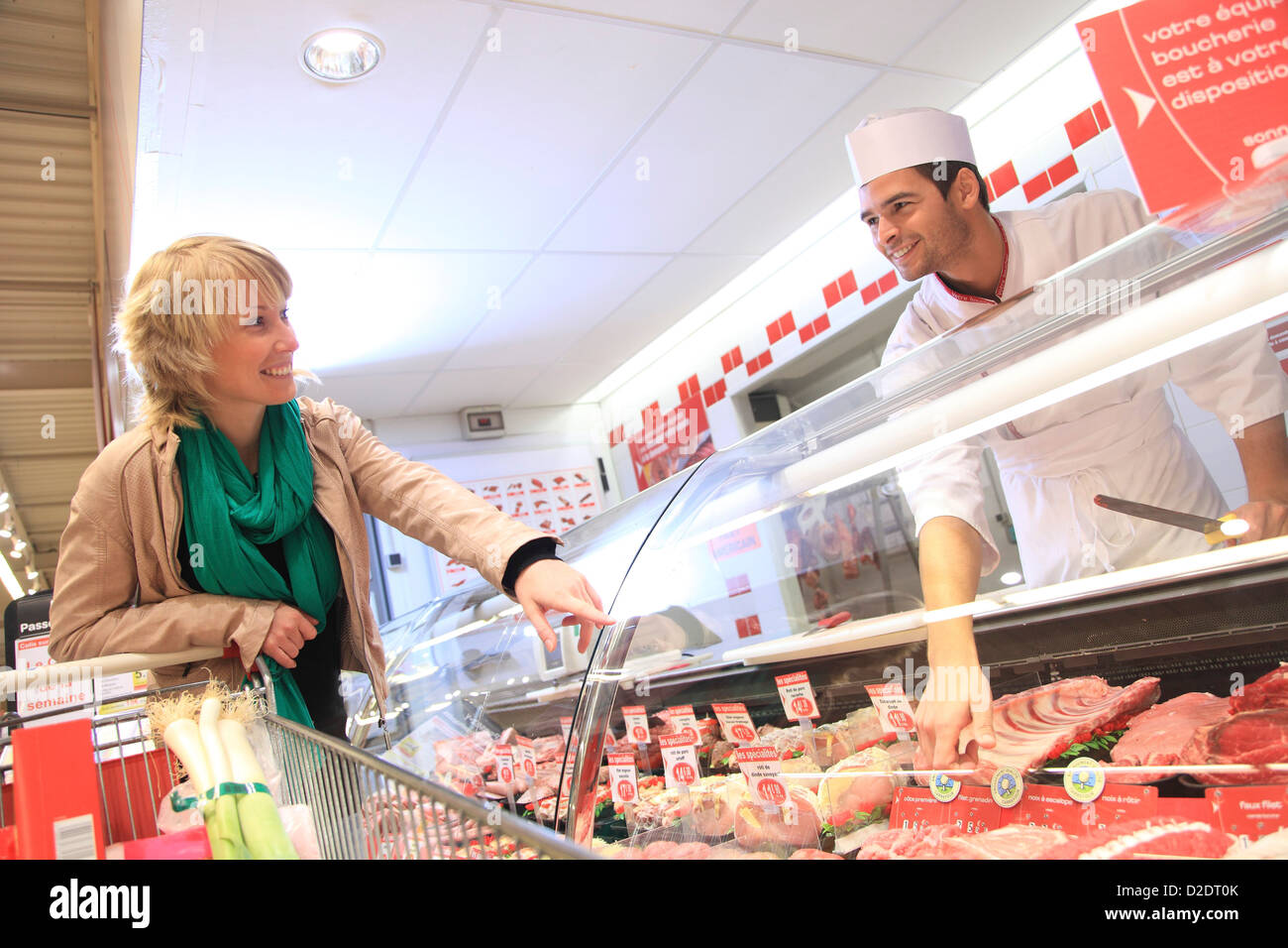 France, supermarket, customer. Stock Photo