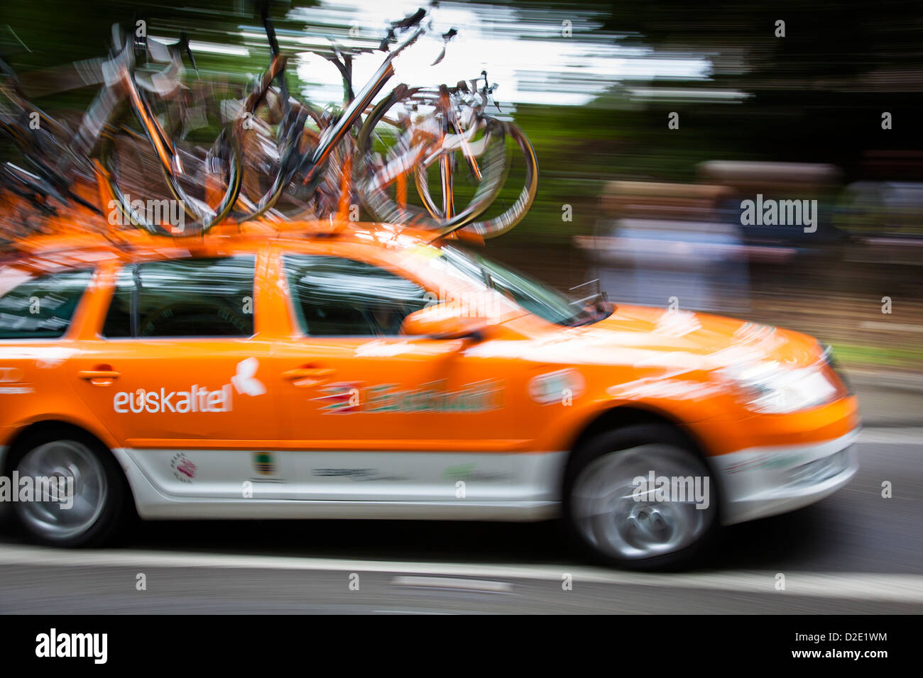 Cycle Team Support Car Tour Stock Photos & Cycle Team ...