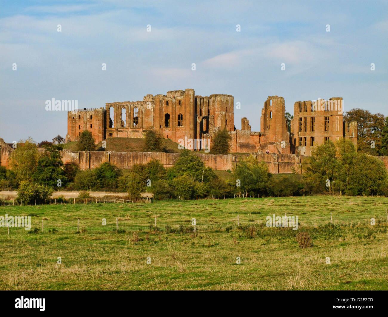 Kenilworth Castle, Kenilworth, Warwickshire, England - Stock Image