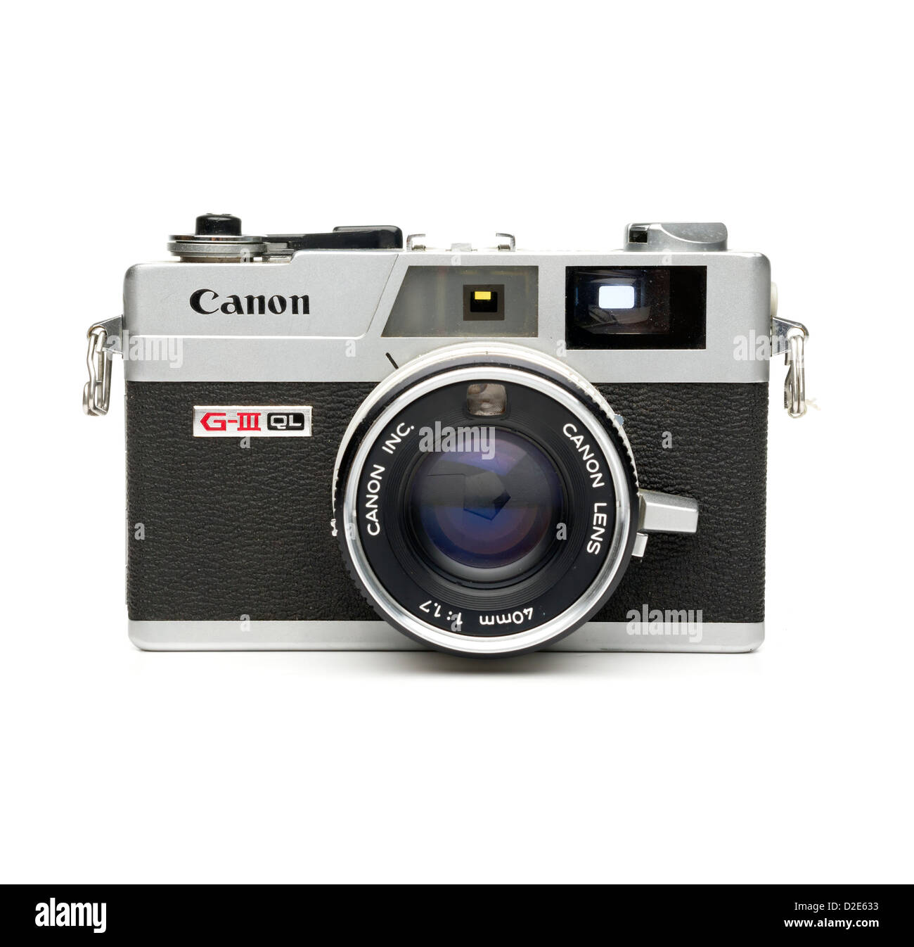 Canon Canonet G-III QL rangefinder film camera isolated on white background Stock Photo