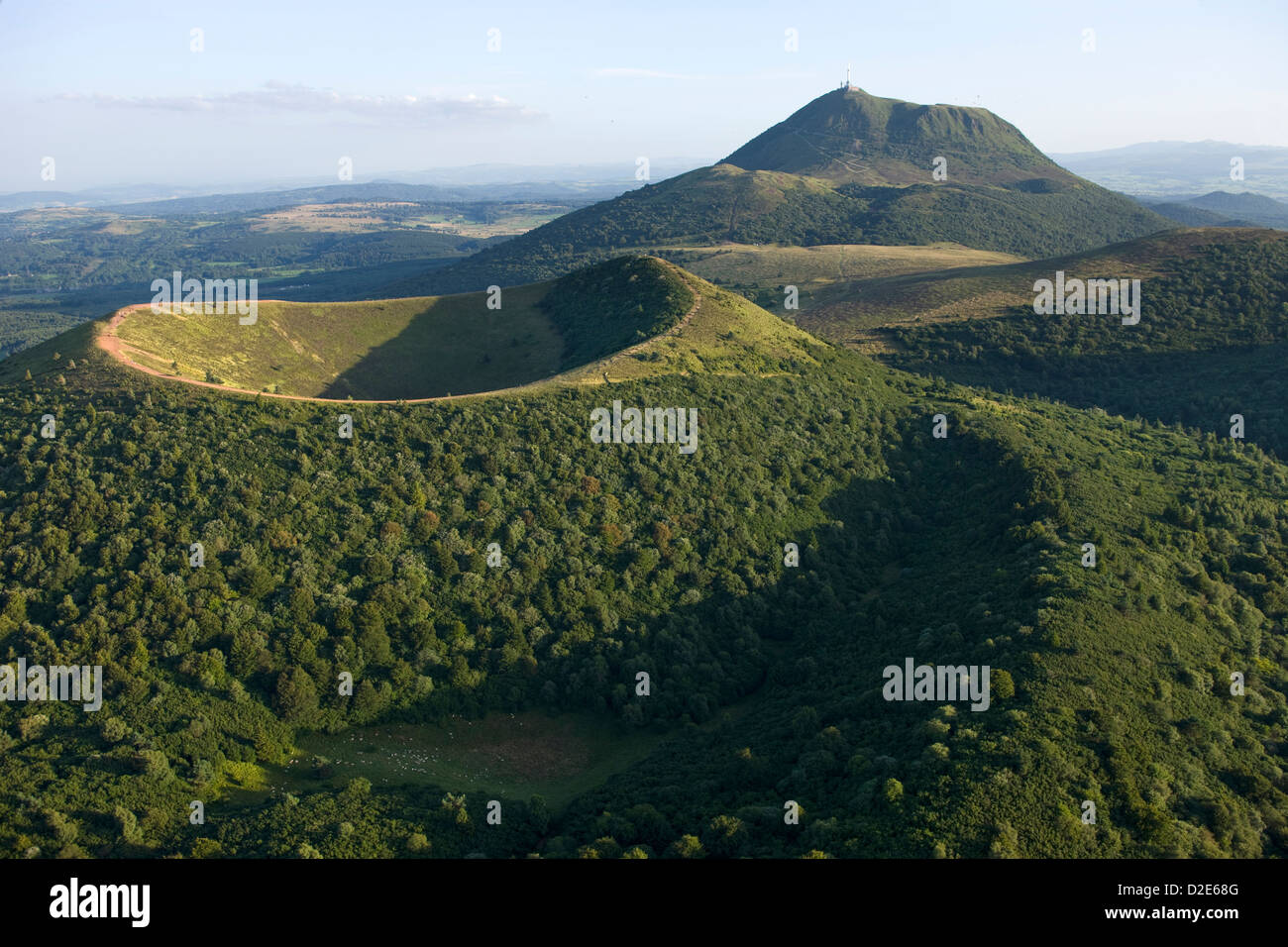 scoria cone crater puy de dome chaine des puys nature park of stock photo 53172688 alamy. Black Bedroom Furniture Sets. Home Design Ideas