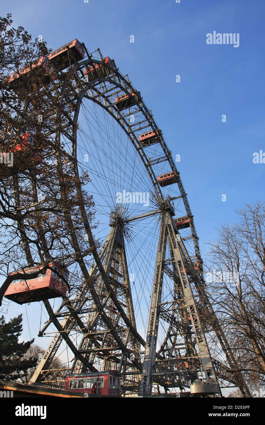 Riesenrad giant ferris wheel is over 100 years old. - Stock Image