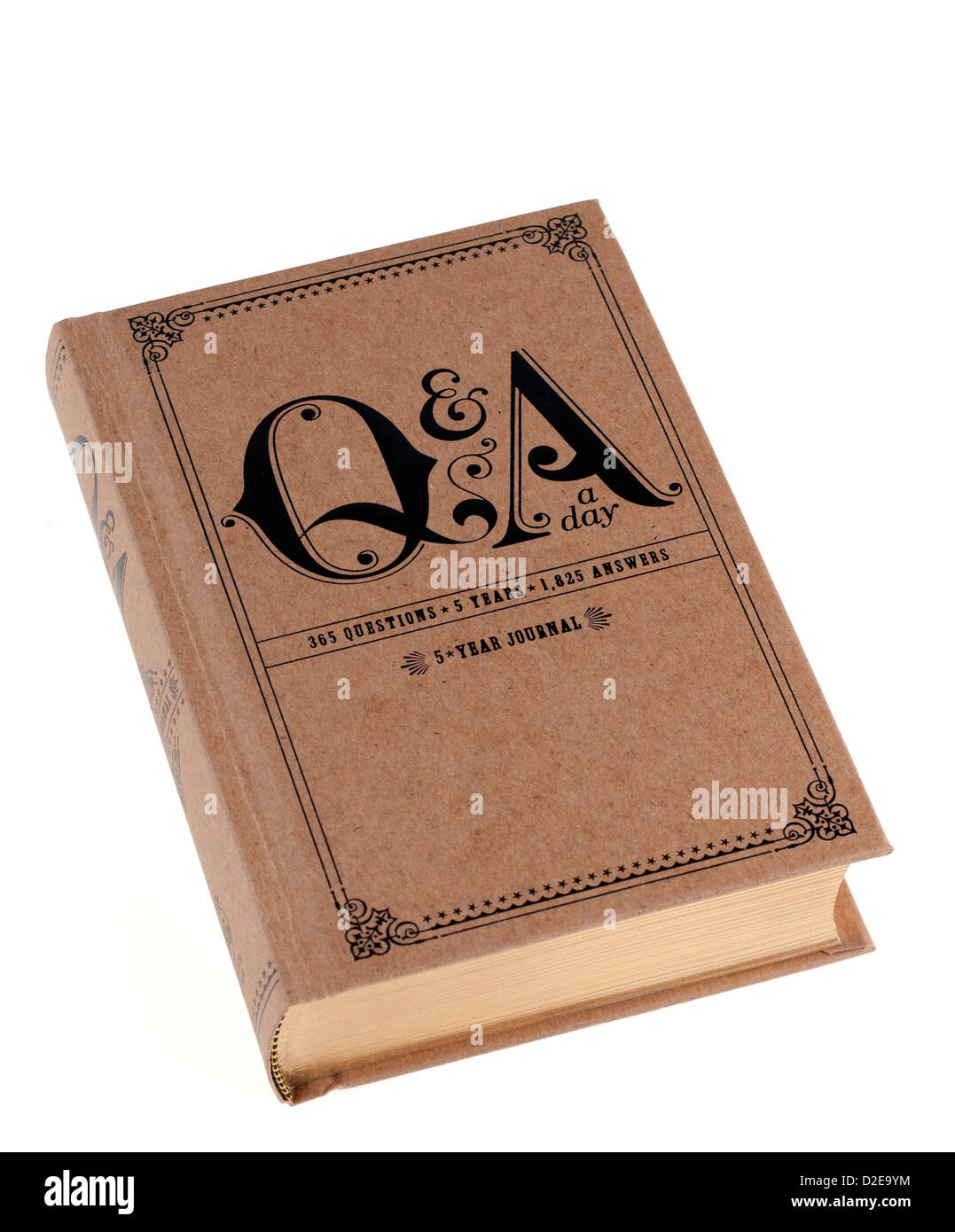 Five year compact personal journal - Stock Image