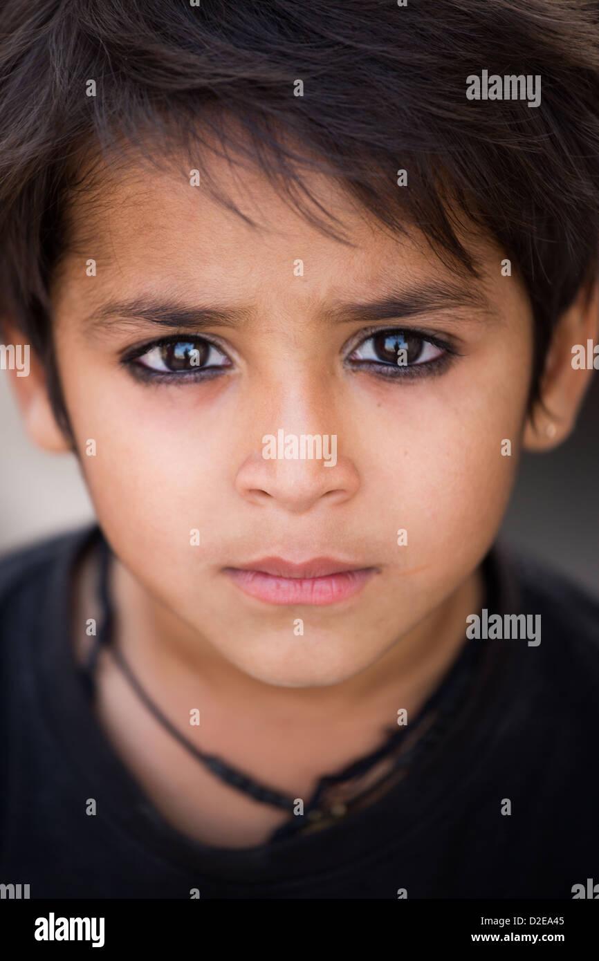 Indian boy in Ahmedabad, Gujarat, India - Stock Image