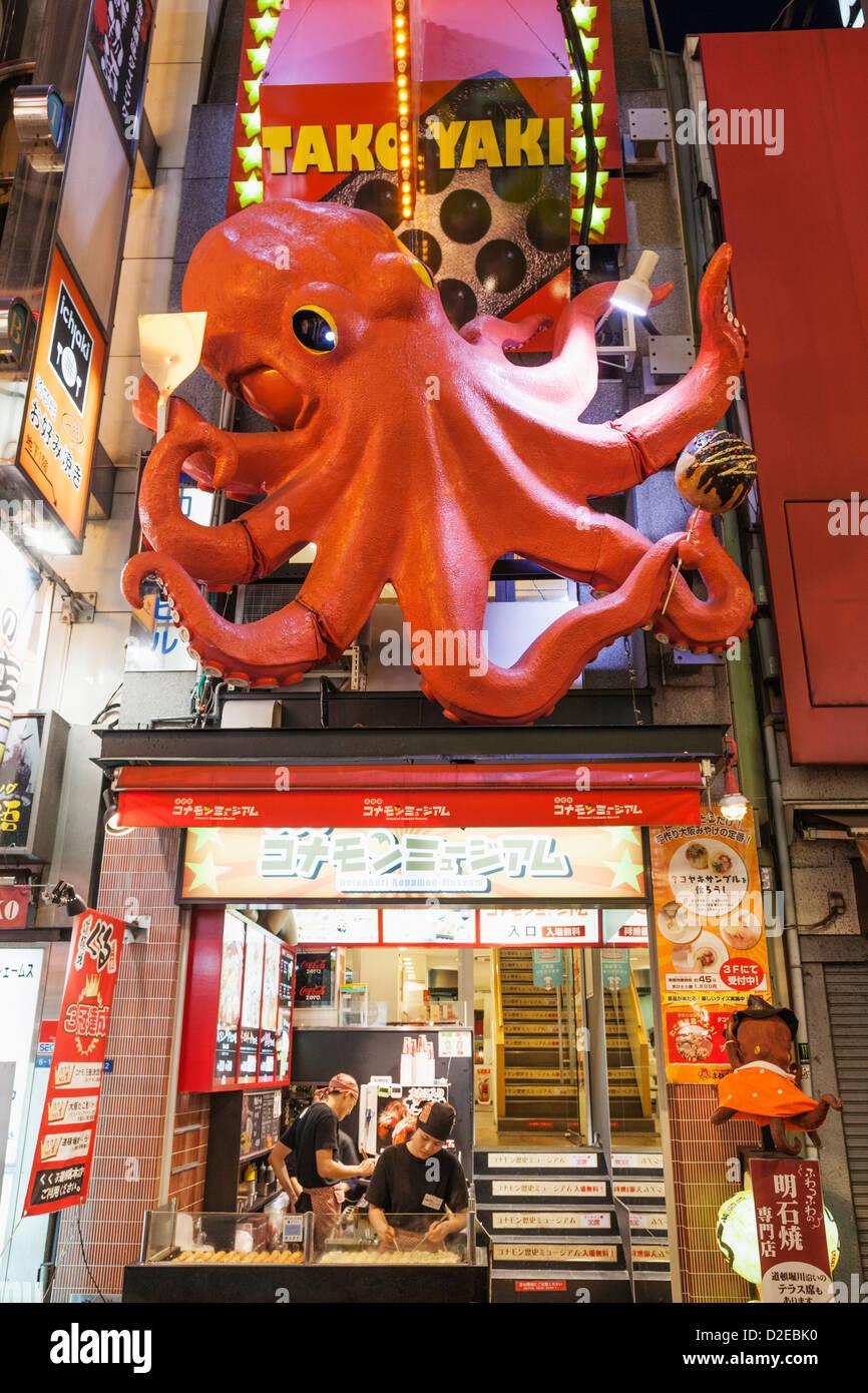 Japan Honshu Kansai Osaka Namba Dotombori Street