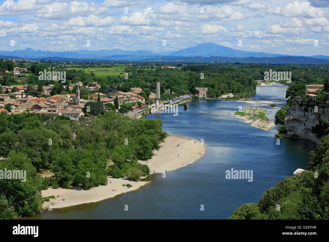 France, Ardeche , Saint-Martin d'Ardèche - Stock Image