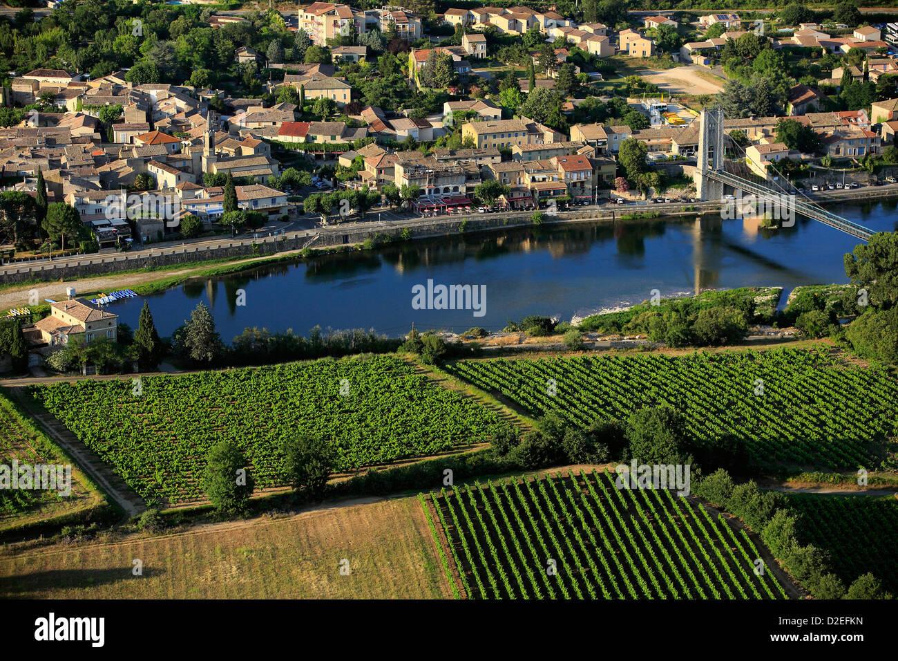 France, Ardeche (07), Saint-Martin d'Ardèche, tourist village - Stock Image