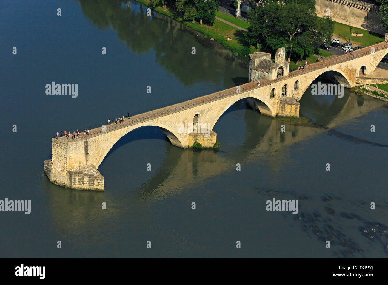 France, Vaucluse (84), Avignon, a city located on the banks of the Rhone, the bridge of Avignon, Benezet Bridge - Stock Image