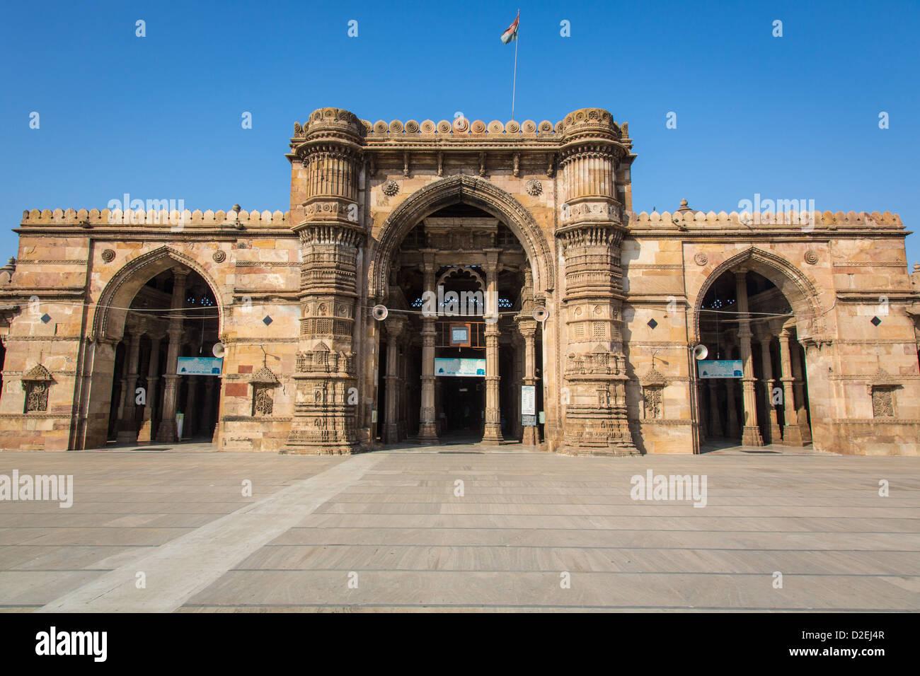 Jama Masjid or Friday Mosque, Ahmedabad, Gujarat, India - Stock Image