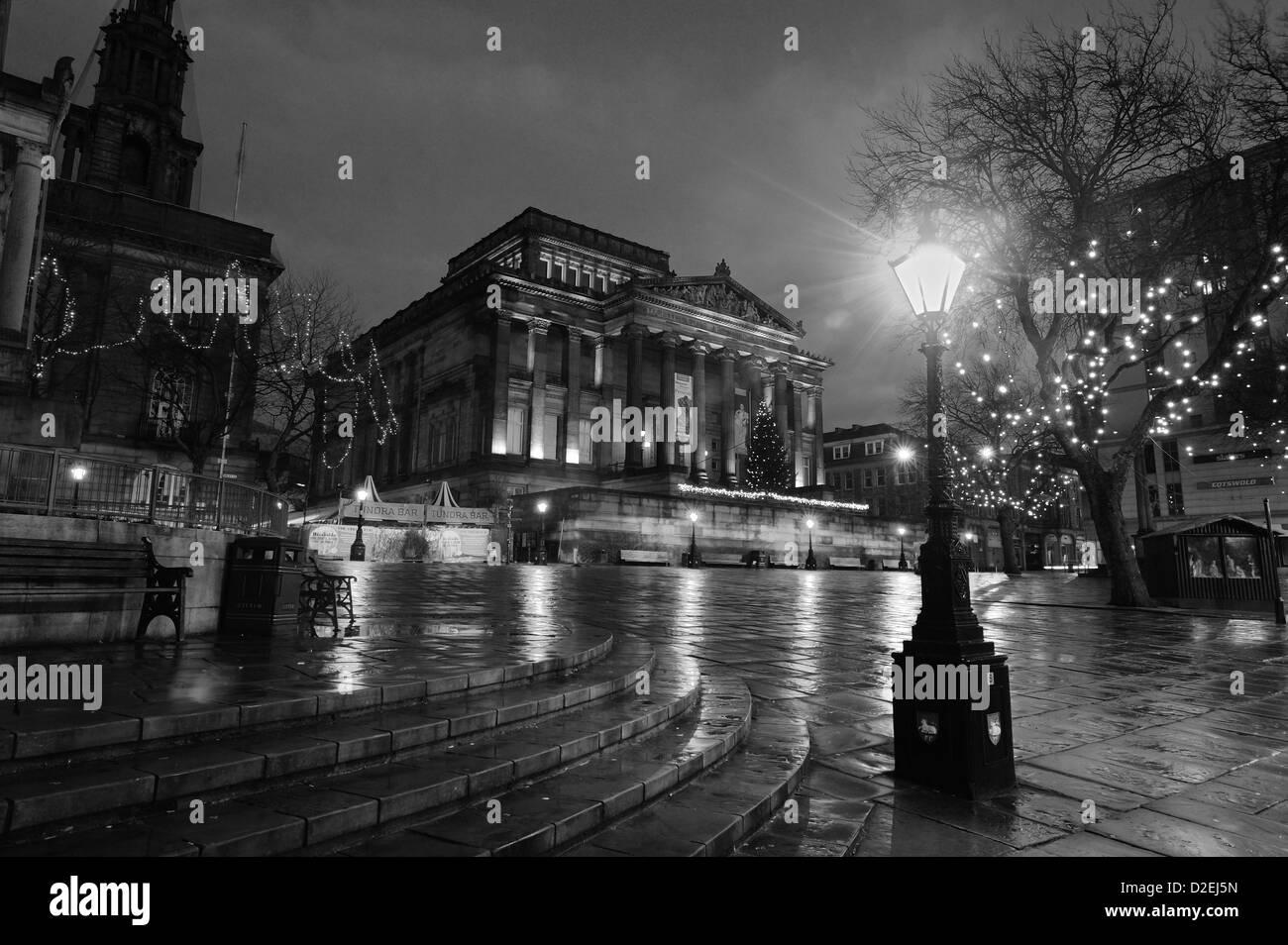 preston city centre, christmas day - Stock Image