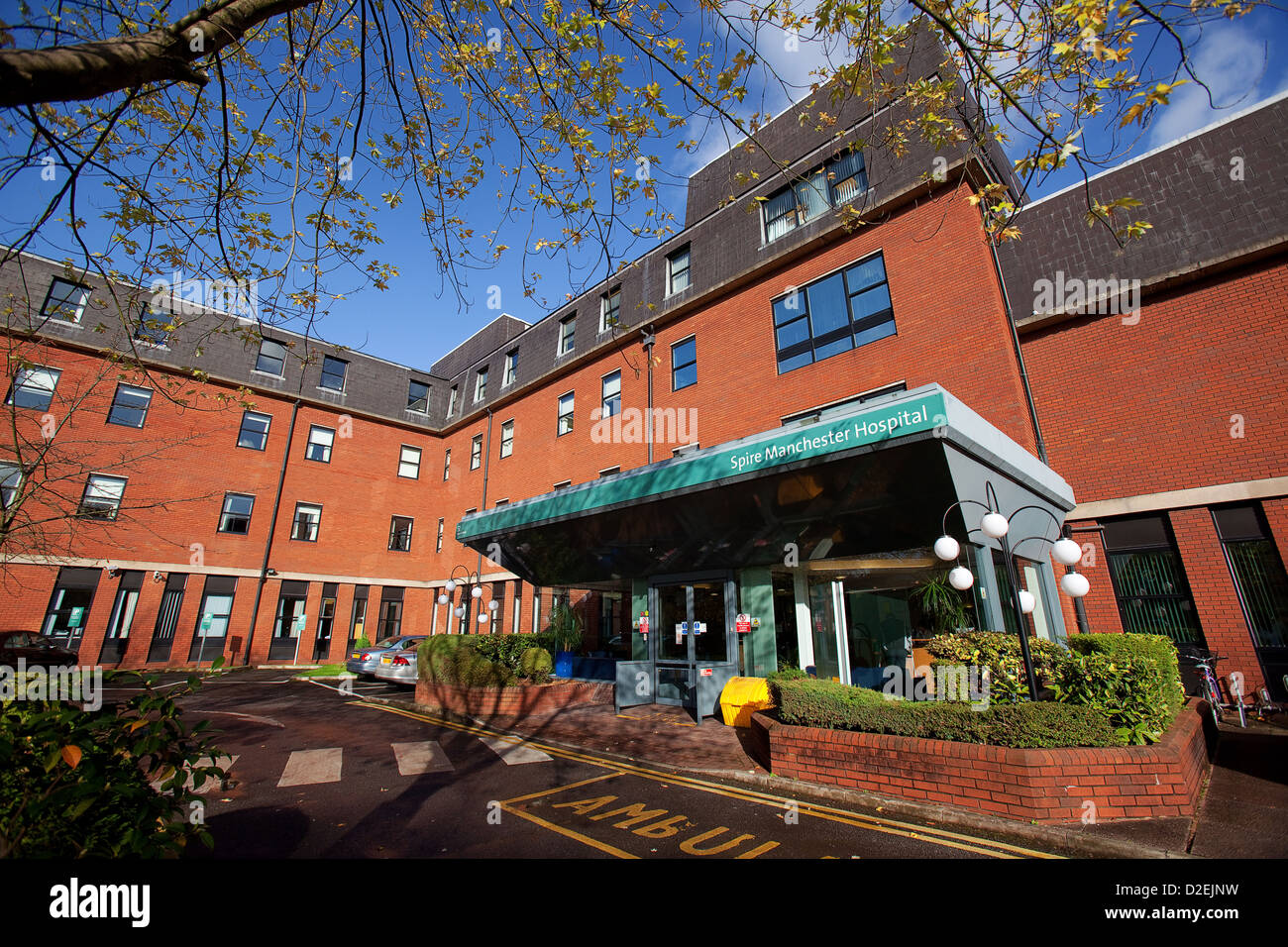 Official opening of Spire Healthcare Whalley Range Manchester Pictured exterial of the hospital entrance - Stock Image