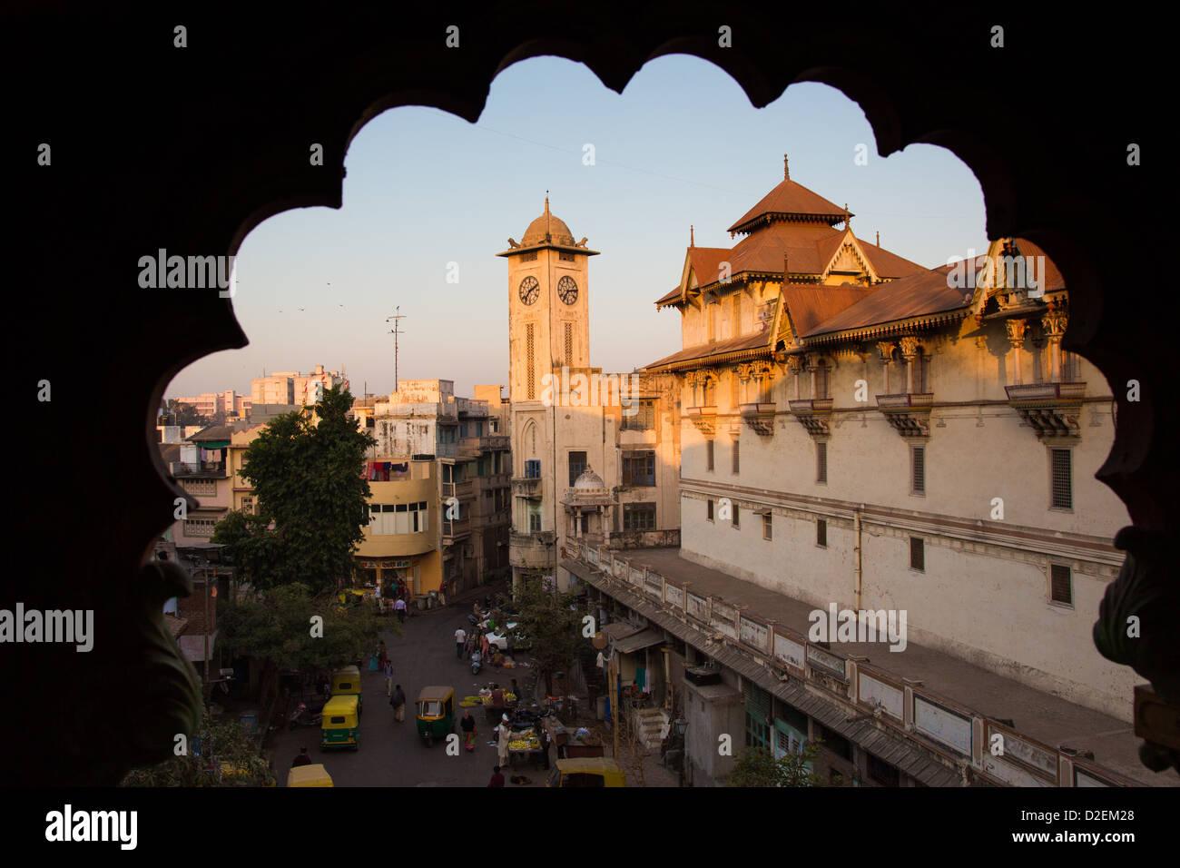 Swaminara Hindu Temple Complex, Ahmedabad, Gujarat, India - Stock Image