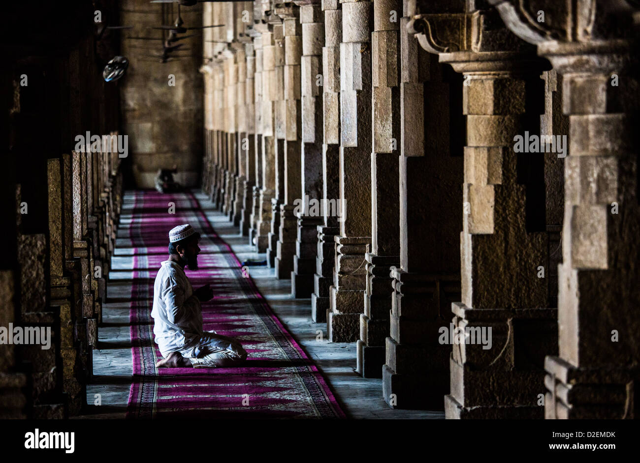 Jama Masjid or Friday Mosque, Ahmedabad, Gujarat, India - Stock Image