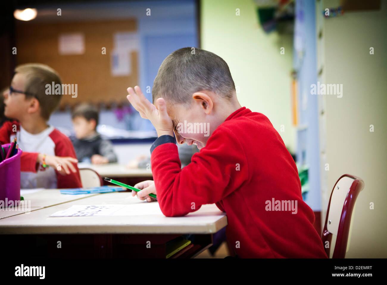 PRIMARY SCHOOL CLASS - Stock Image