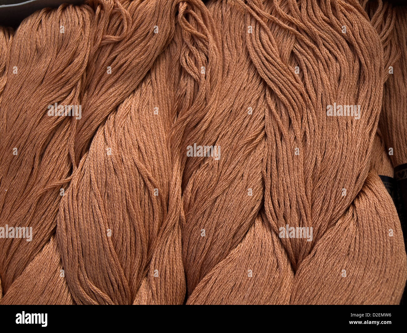 skeins of cotton - Stock Image