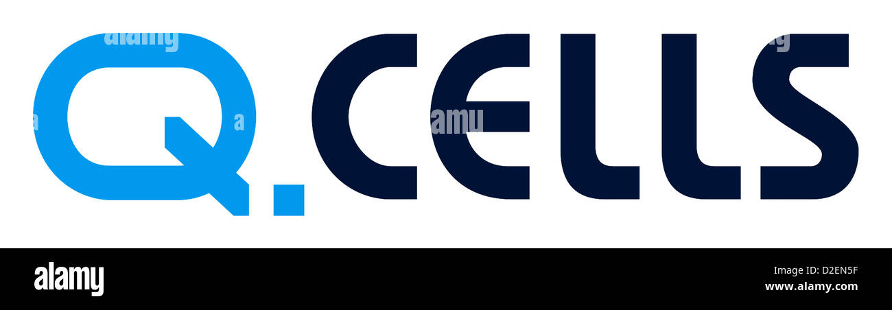 Logo of the German manufacturer of photovoltaics cells Q.Cells. - Stock Image