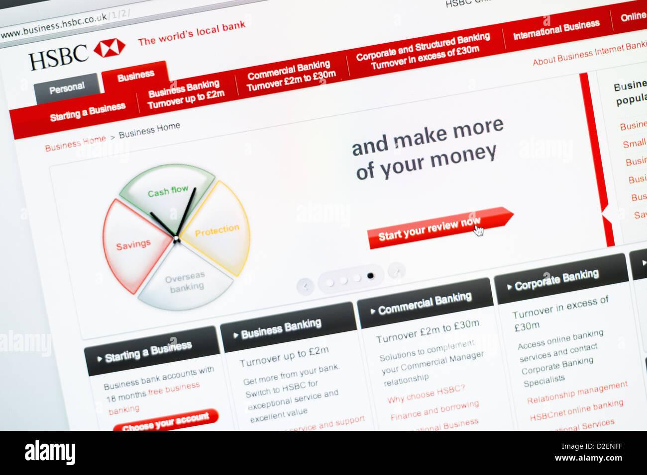 HSBC Business Banking website Stock Photo: 53184643 - Alamy
