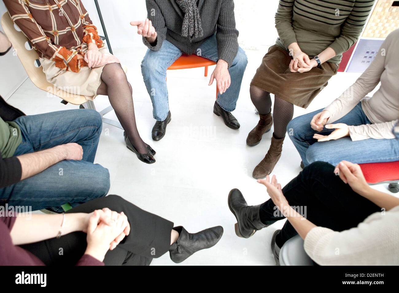 GROUP THERAPY - Stock Image