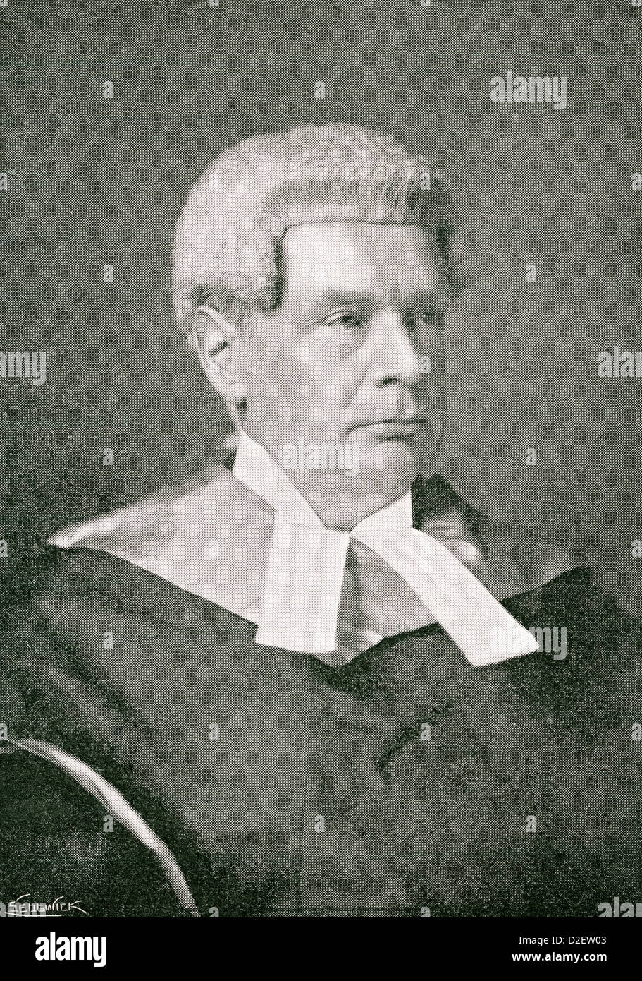 Sir John Compton Lawrance, 1832 – 1912. English judge and Conservative Party politician. - Stock Image
