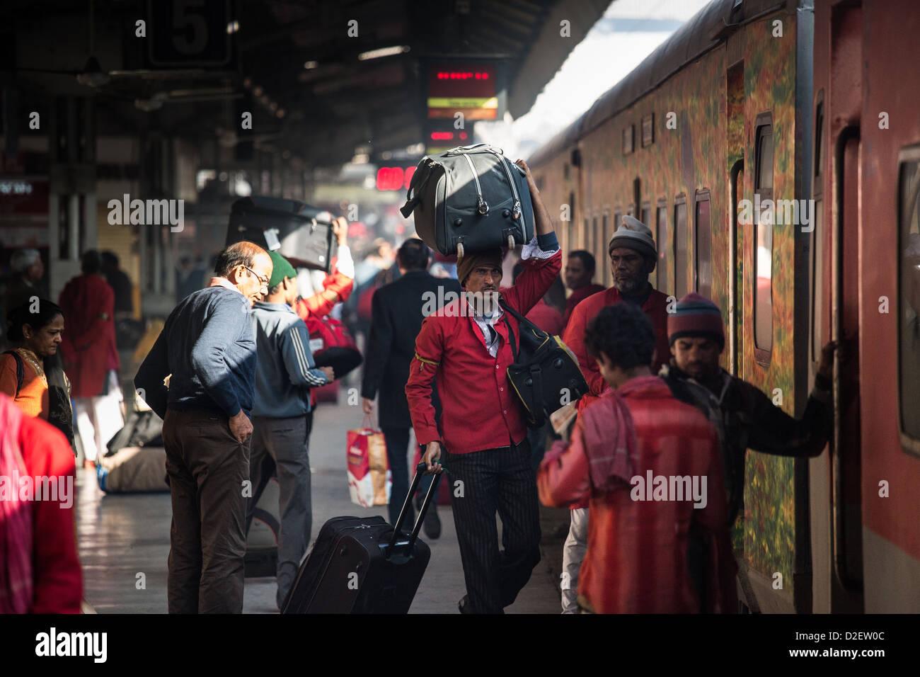 Railway station in Ahmedabad, India - Stock Image