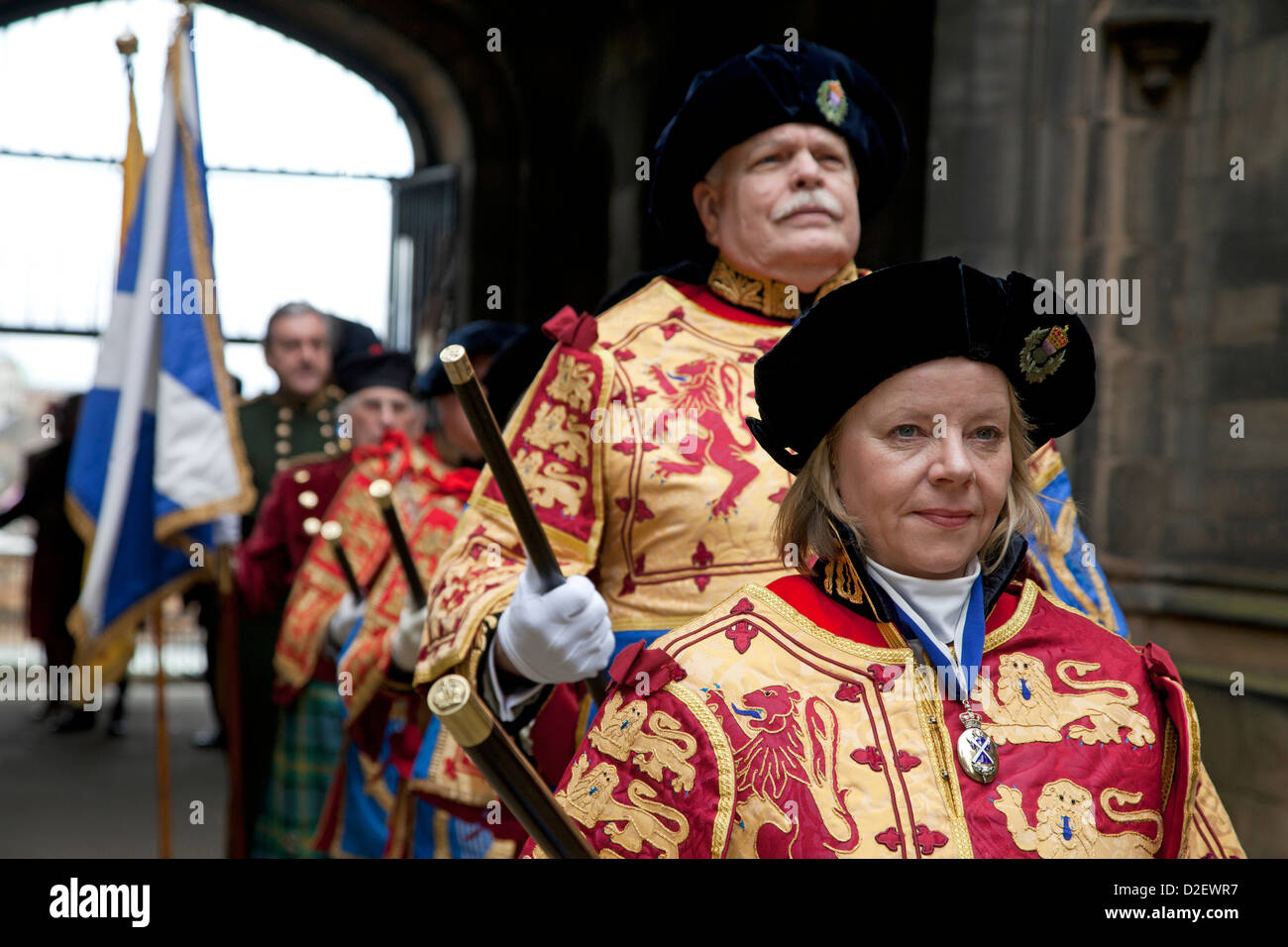The procession assembles for The General Assembly of the Church of Scotland 2012 - Stock Image