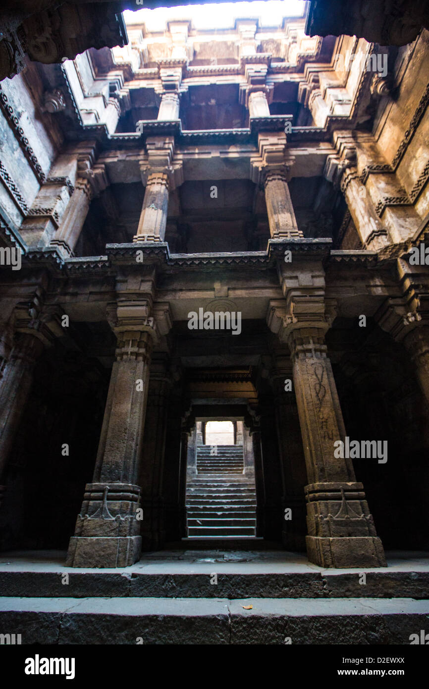 Hari-ni Vav step well in Ahmedabad, India - Stock Image