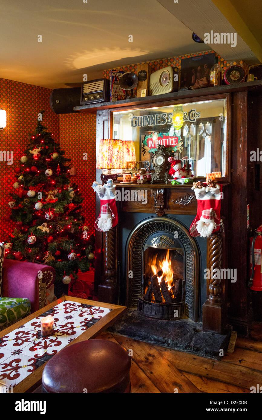 Pub Christmas Decorations Stock Photos & Pub Christmas ...