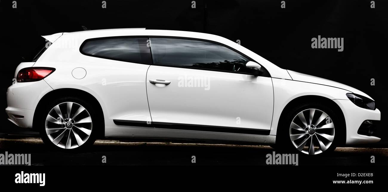 White VW Scirocco 2.0 TSI three door coupe - Stock Image