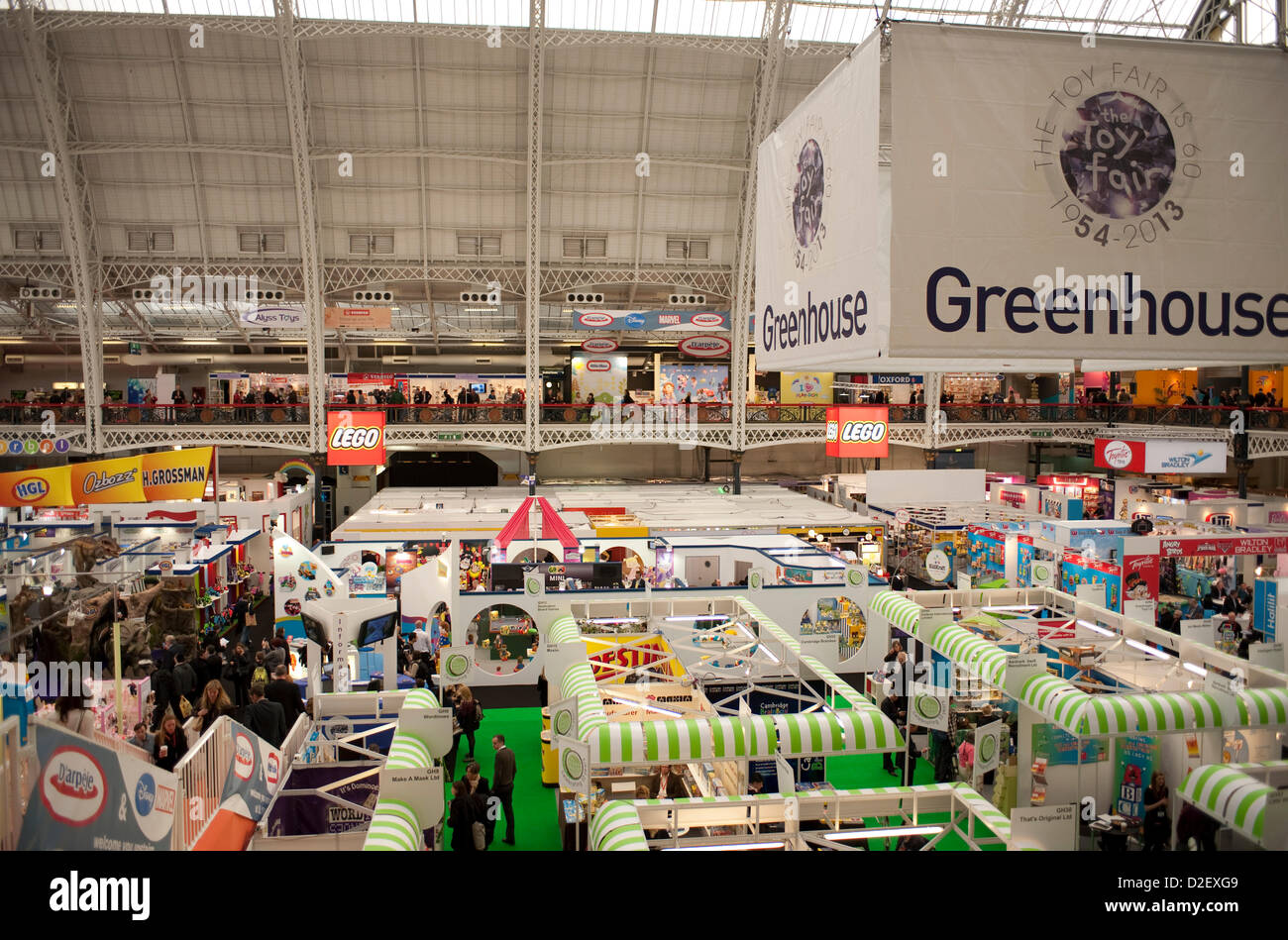 London, UK. 22nd January 2013. Organisers: The British Toy & Hobby Association. The Toy Fair opens today in - Stock Image