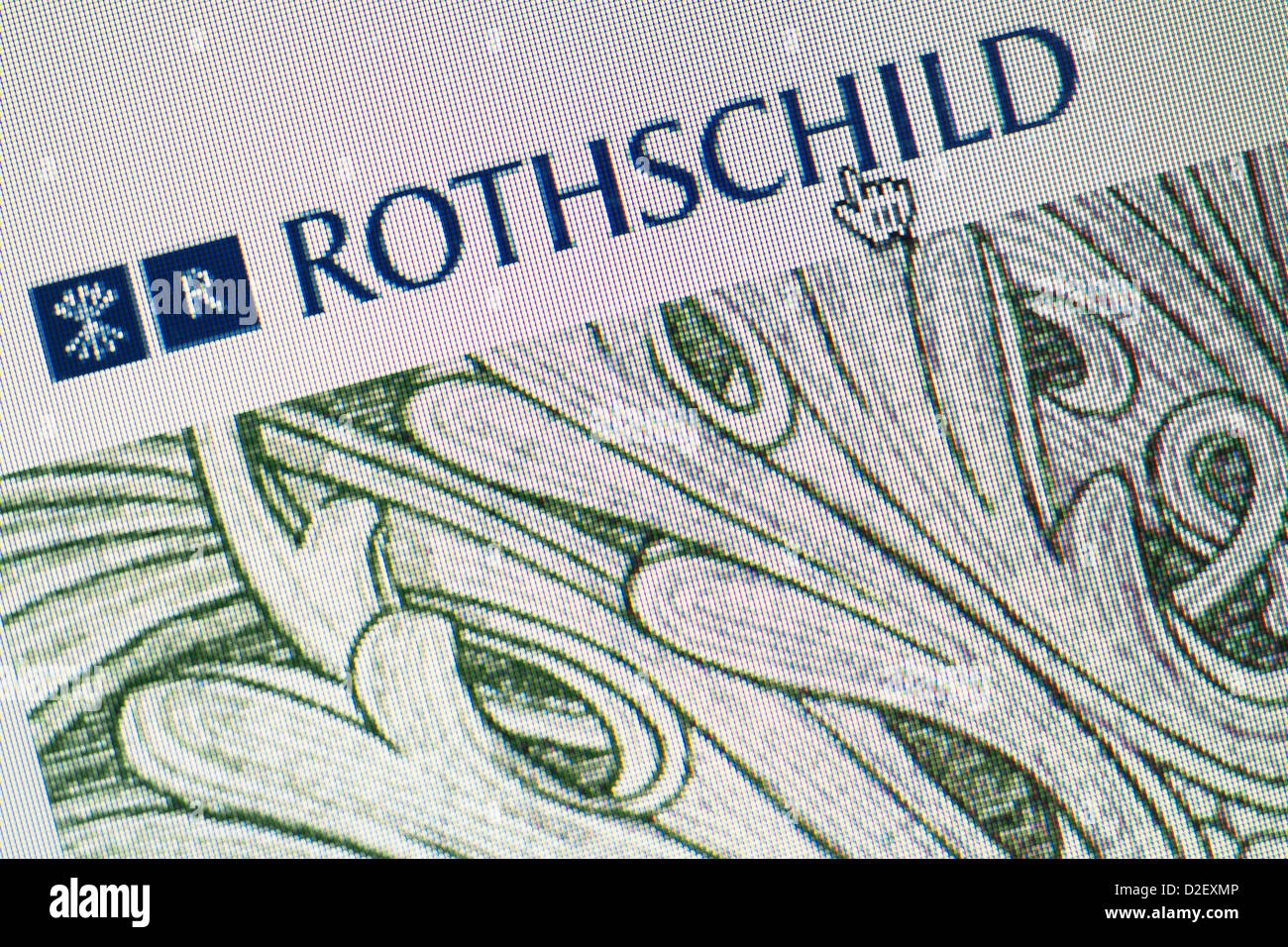 Rothschild logo and website close up - Stock Image