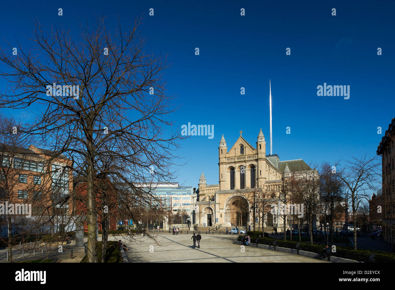 St Annes Cathedral, Donegal Street, Belfast Northern Ireland - Stock Image