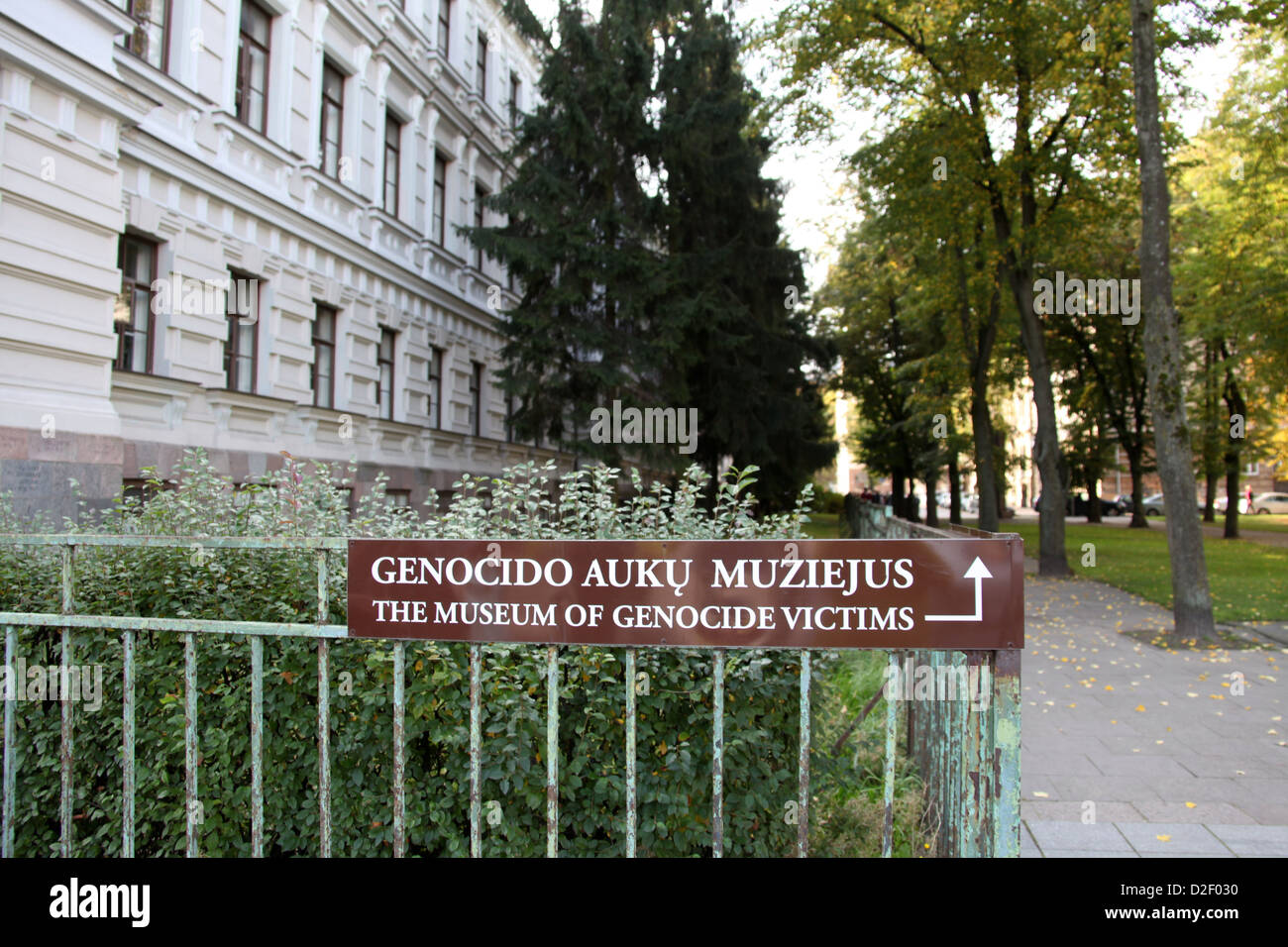 Exterior of the Museum of Genocide in Vilnius - Stock Image