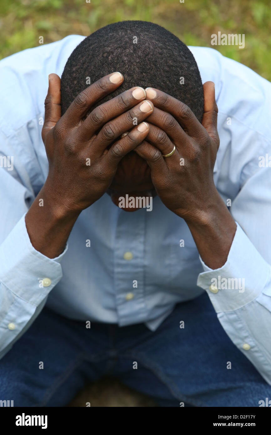 Sad man. France. - Stock Image