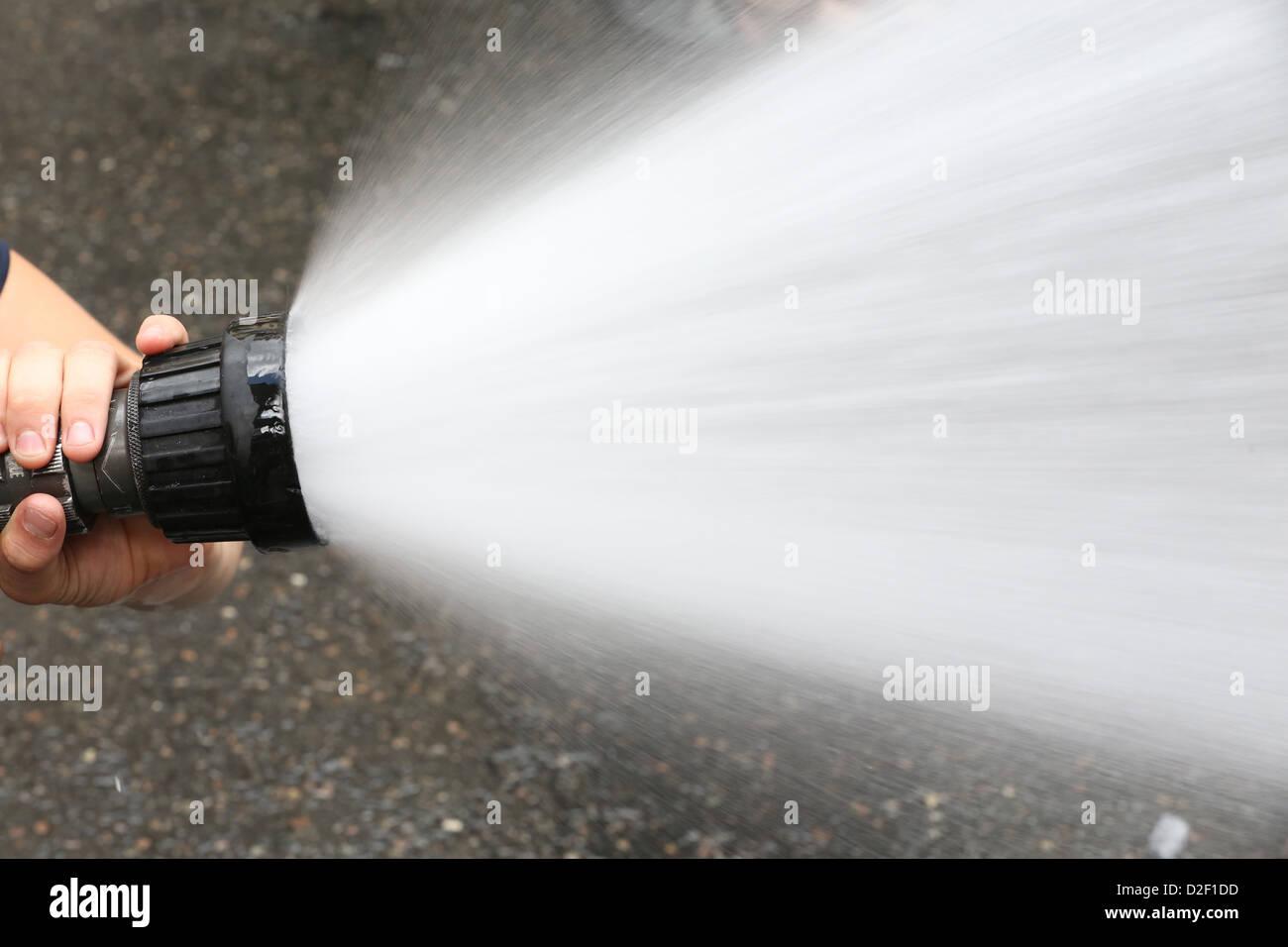 Fire hose Paris. France. - Stock Image