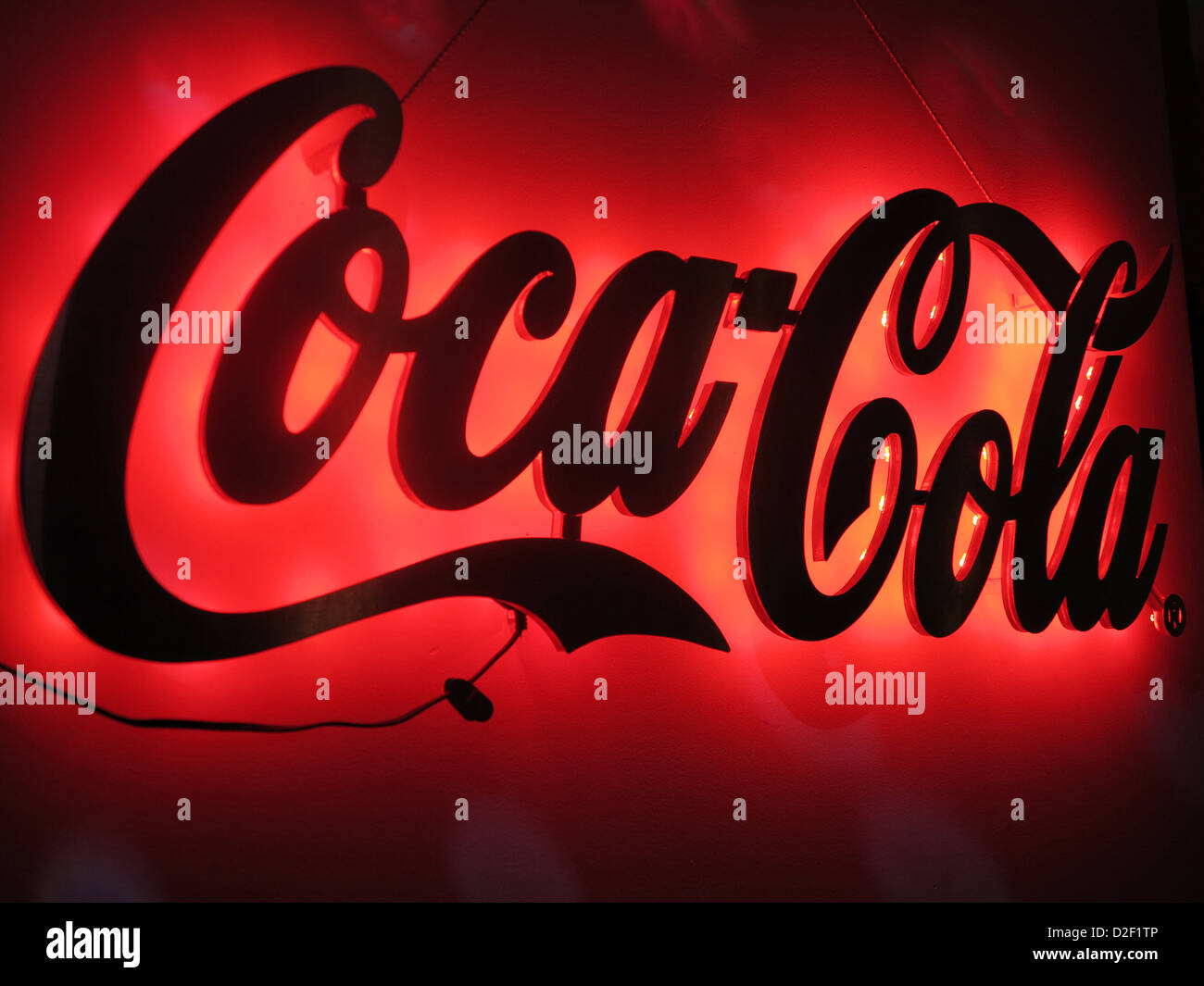Coca Cola sign Saint Petersburg. Russia. - Stock Image