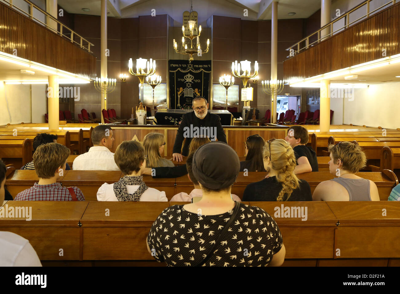 Inter-religious meeting in Don Isaac Abravanel synagogue Paris. France. - Stock Image