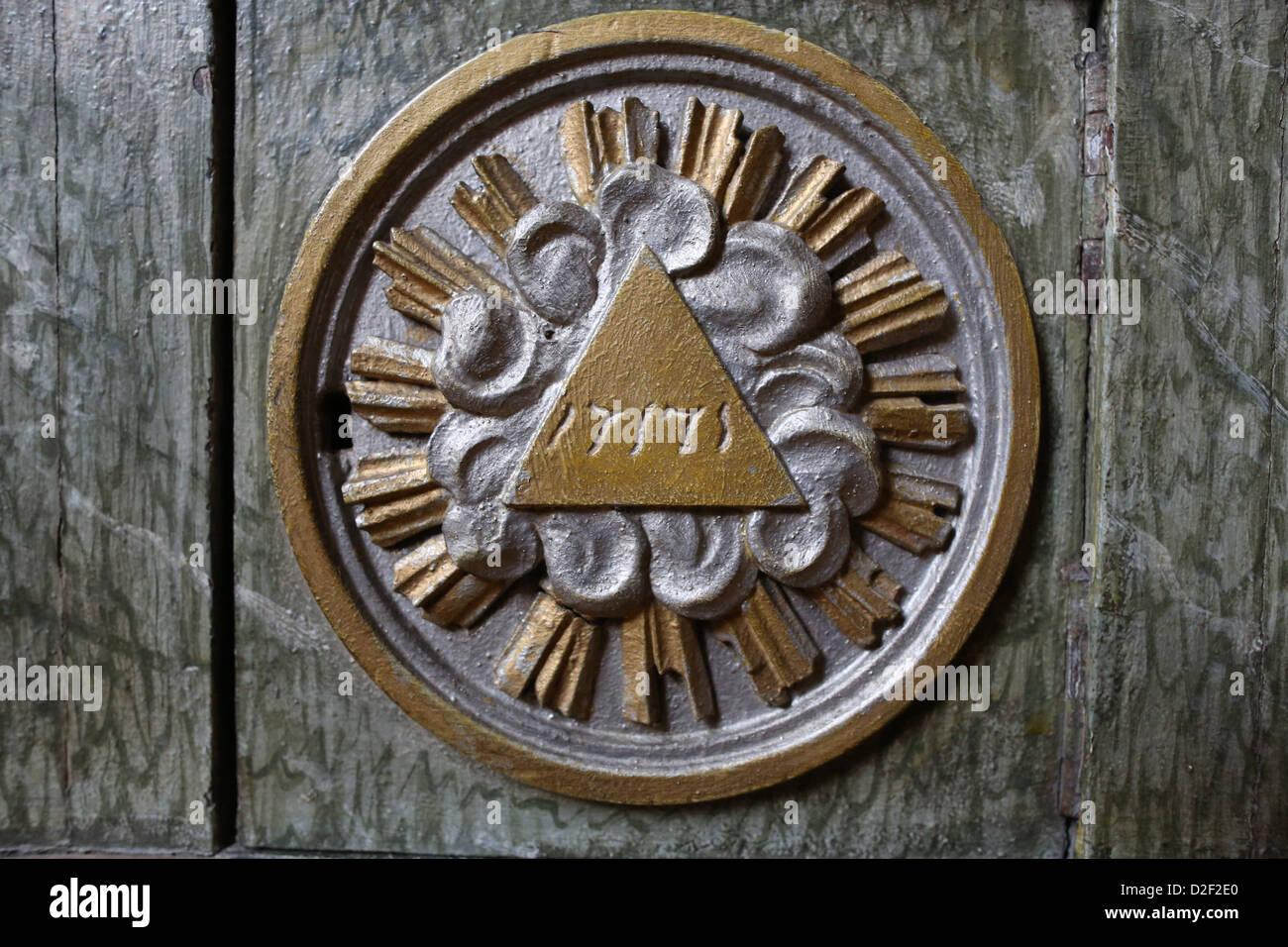 The tetragrammation. Paris. France. - Stock Image