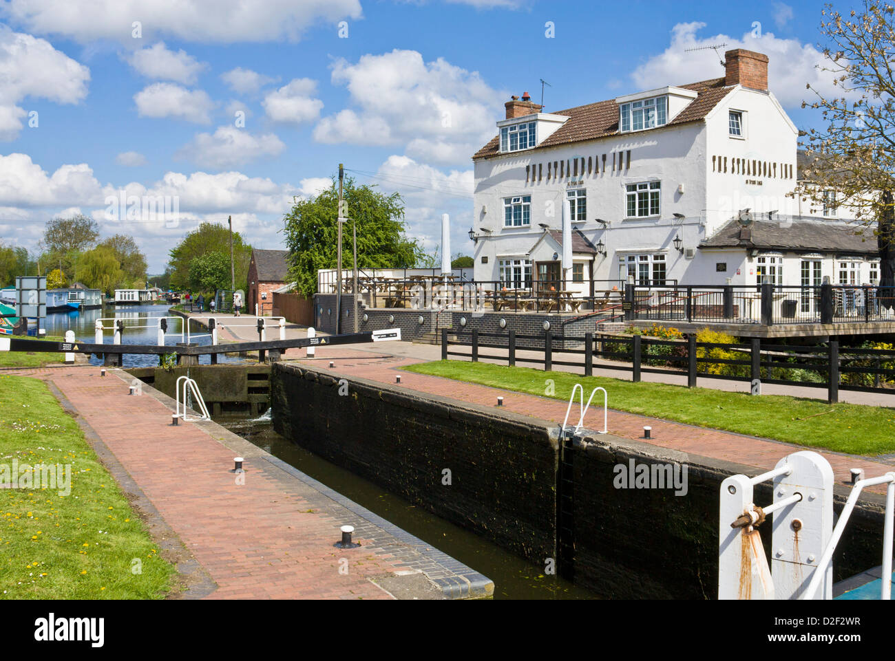 The Steamboat Inn at Trent Lock, Sawley near Long Eaton, Derbyshire, England, GB, UK, EU, Europe - Stock Image