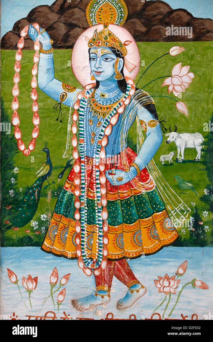 Hindu goddess Radha . Mathurai. India. - Stock Image