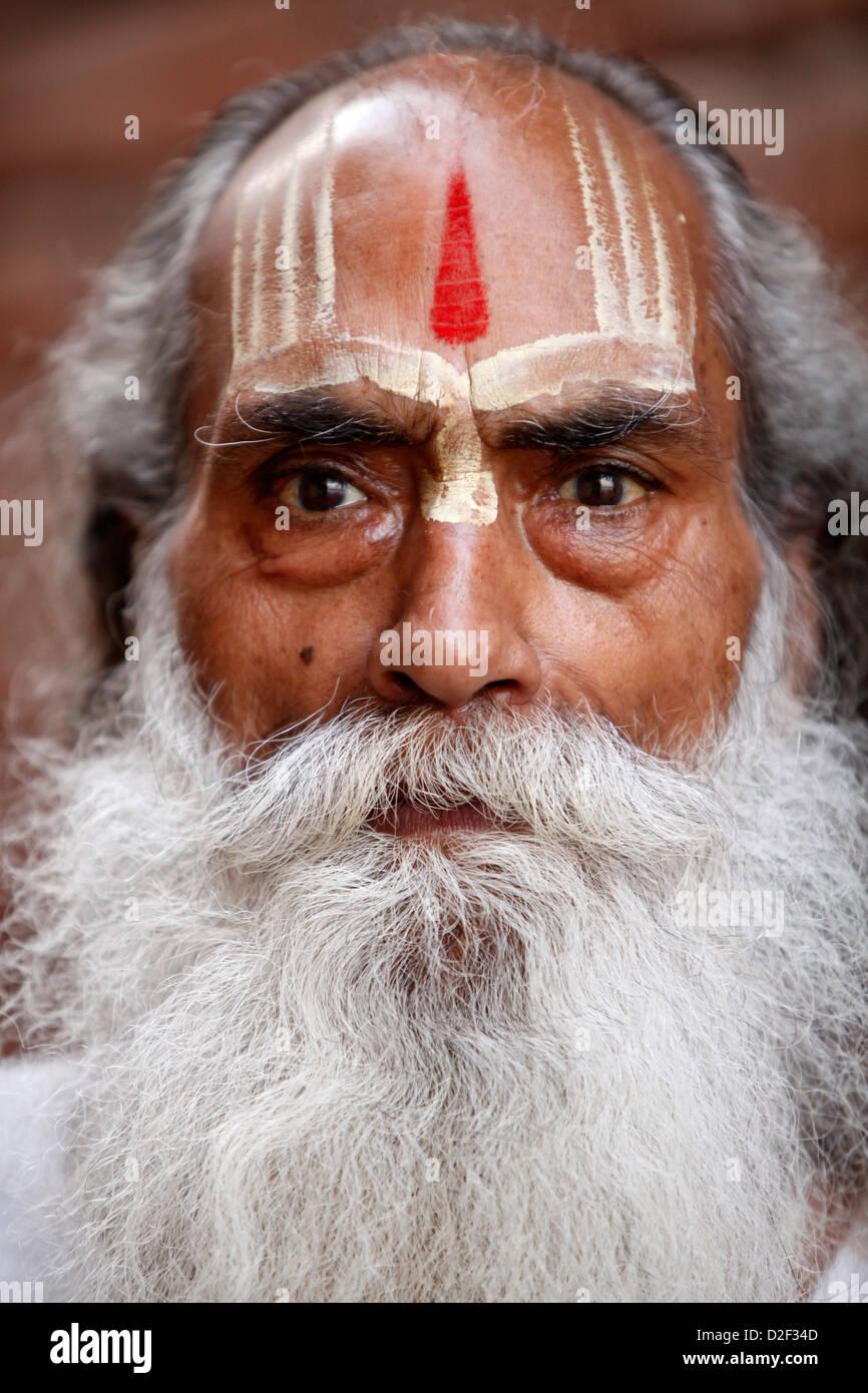 Sadhu . Mathurai. India. Stock Photo